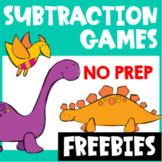 Subtraction Free: Subtraction Within 20 Games: Dinosaur Math Subtraction Facts