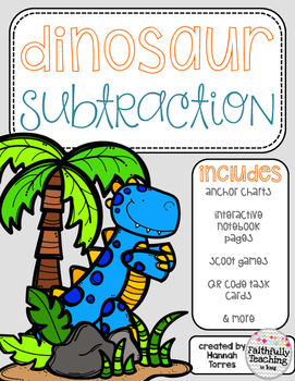 Dinosaur Subtraction-Double Digit