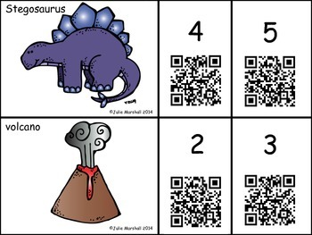 Dinosaur Syllable Count - An Auditory QR Code Activity