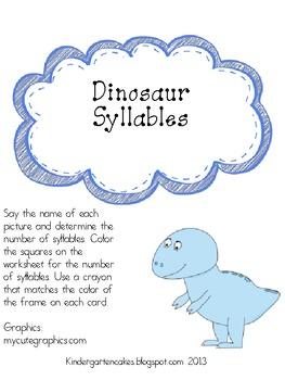 Dinosaur Syllables