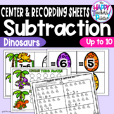 Dinosaur Take Away! Subtraction up to 10 ~Perfect for Mini