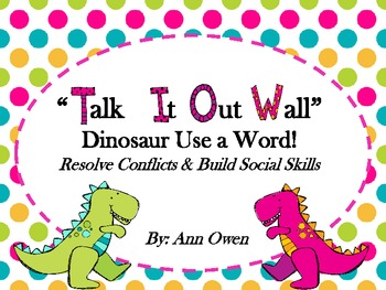Dinosaur Talk it Out Wall