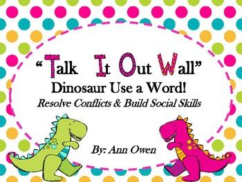 Dinosaur Talk it Out Wall