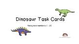 Dinosaur Task Cards Identify Draw Numbers 1-20