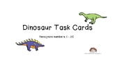 Dinosaur Task Cards Identify Draw Numbers 1-20