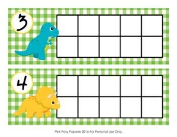 Dinosaur Ten Frame Cards