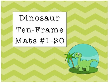 Dinosaur Ten-Frame Mats Numbers 1-20