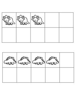 Dinosaur Ten Frames 1-10