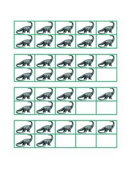 Dinosaur Ten Frames