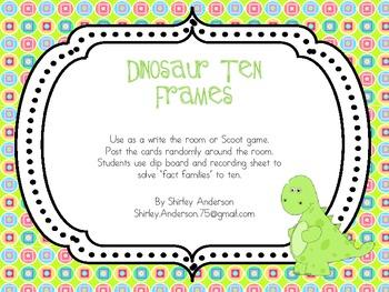 Dinosaur Ten Frames- Decomposing ten