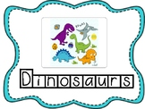 Dinosaur Thematic Unit Tracers