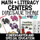 Literacy and Math Centers For Early Learners-Dinosaur Themed
