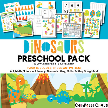 Dinosaur Theme Unit Activities for Preschool or Homeschool