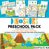 Dinosaur Activities Preschool (color and black & white version)