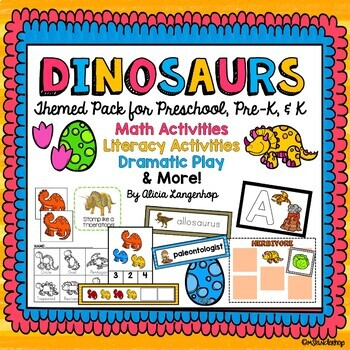 Dinosaur Theme Activity Pack