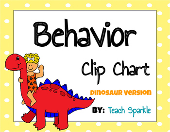 Dinosaur Theme Behavior Clip Chart