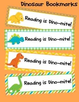 Dinosaur Theme Bookmarks