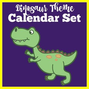 Dinosaur Theme Calendar   Dinosaur Theme Classroom Decor