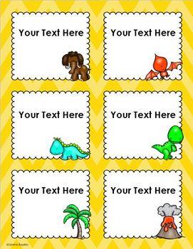 Dinosaur Theme Classroom Labels Decorations Editable