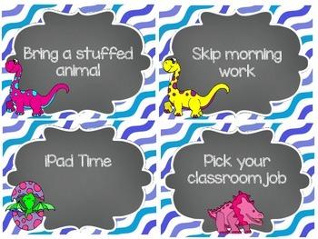 [FREEBIE} Dinosaur Theme Classroom Reward Coupons