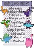Dinosaur Theme Classroom Rules