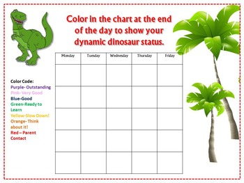 Dinosaur Theme Clip Chart and Reward Catalog