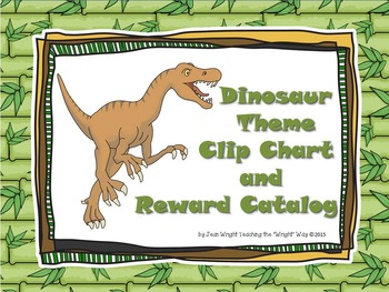 Dinosaur Theme Clip Chart and Reward Catalog