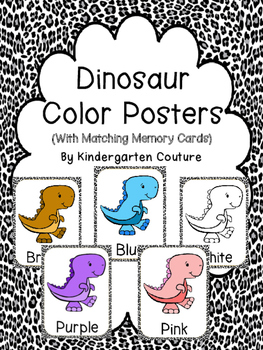Dinosaur Theme Color Word Posters