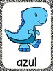 Dinosaur Theme Color Word Posters -Spanish