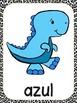 Dinosaur Theme Color Word Posters -Spanish
