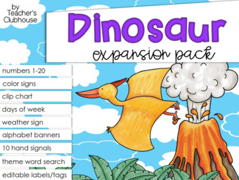 Dinosaur Theme Decor {Expansion Pack}