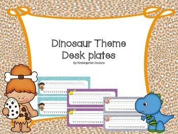 Dinosaur Theme Desk Name Plates