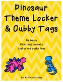 Dinosaur Theme Locker and Cubby Tags