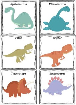Dinosaur Theme Matching Tasks