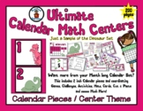 Dinosaur Theme - Month of Math Centers & Calendar Pieces -