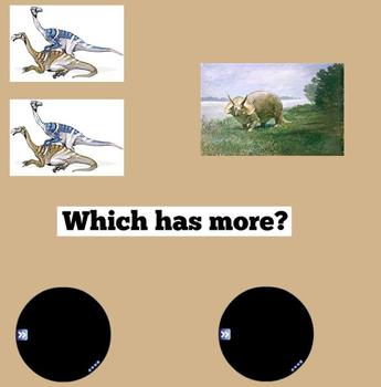 Dinosaur Theme:  More and Less