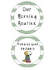 Dinosaur Theme Morning Routine Visual Checklist Chart