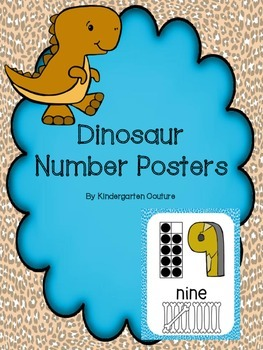 Dinosaur Theme Number Posters