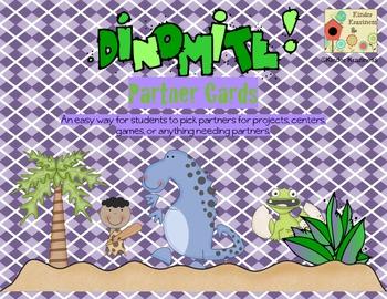 Dinosaur Theme Partner Cards