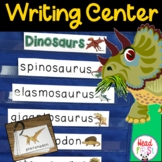 Dinosaur Pictionary Cards - Vocabulary, Writing Center, Wr
