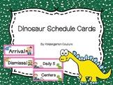 Dinosaur Theme Schedule Cards