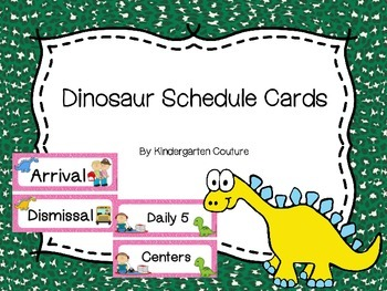 Dinosaur Theme Schedule Cards