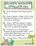 Dinosaur Theme Writing Center