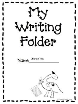 Dinosaur Theme Writing Folder Cover