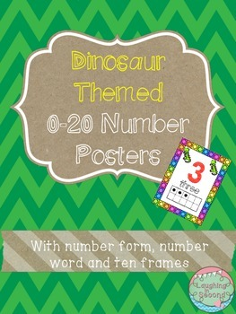 Dinosaur Themed 0-20 Numbers Posters