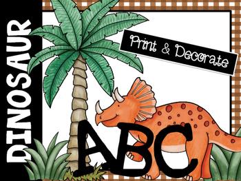 Dinosaur-Themed ABC