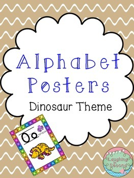 Dinosaur Themed Alphabet Posters