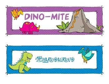 Dinosaur Themed Behavior Chart