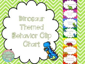 Dinosaur Themed Behavior Clip Chart