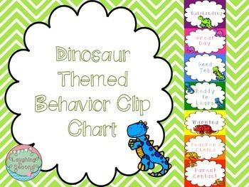 Dinosaur Themed Behavior Clip Chart